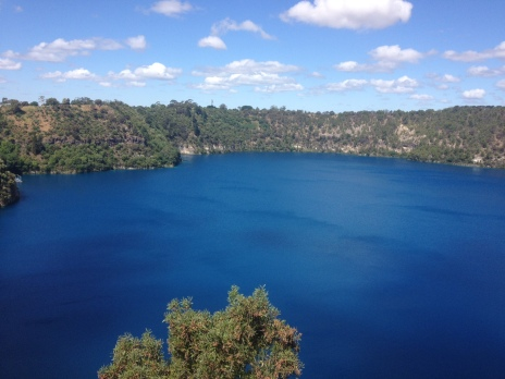 The wonderful Blue Lake of Mount Gambier